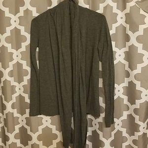 Sweaters - Grey cardigan wrap sweater